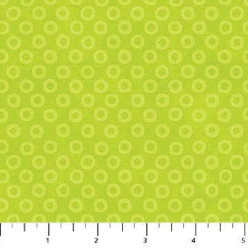 O's Fat Quarter - Lime X's and O's Collection by Northcott