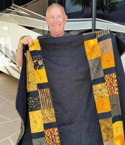 Smile on Cancer Patient Tells All for Charity Quilt