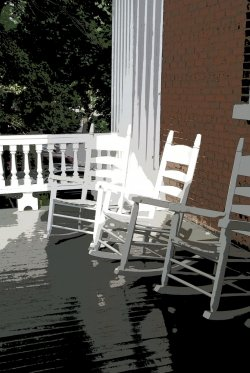 Rocking Chairs for a Fabric Panel