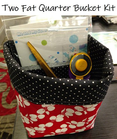 2 Fat Quarter Bucket Kit with Fabrics by Wilmington Prints and Pattern by Me & My Sister Designs