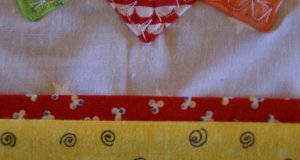 Pressed Quilt Border with Quilt Flange