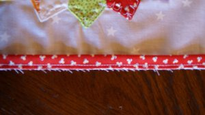 Quilt Flange Sewn to Quilt Block