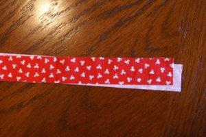 Cut Strip for Quilt Flange