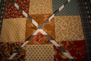 Second Diagonal Cut through Nine Patch Block