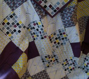 Quilt Made using Moda's Chic Neutrals & Villa Rosa Designs' Sunsprite