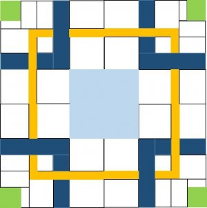 2016 Mystery Quilt Week 6 Pattern Block Clue 2 After