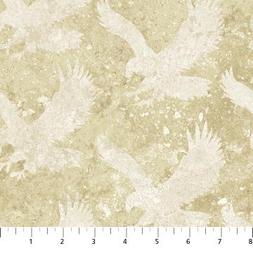 Eagle in Tan Fabric Patriotic Collection by Northcott