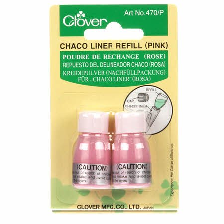 Clover Chaco Liner Chalk Wheel Refill - Pink