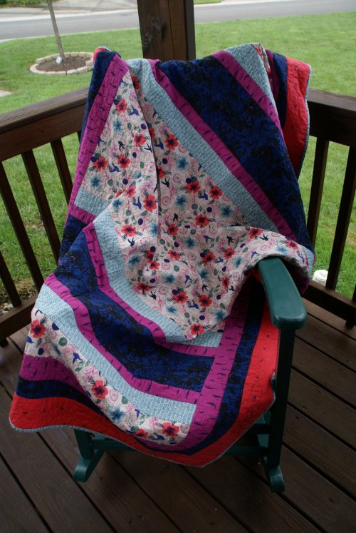 Wedding Quilt using Honeymoon Fabrics & Honor Pattern