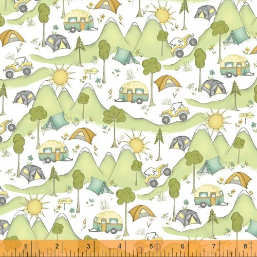 Mountain View Fat Quarter - Multi from Road Trippin' Collection by Windham Fabrics