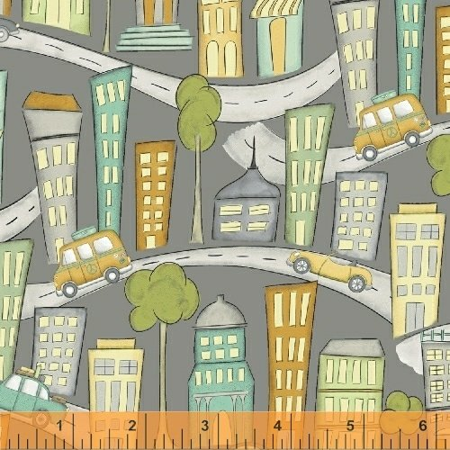 Cityscape Fat Quarter - Grey from Road Trippin' Collection by Windham Fabrics