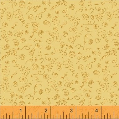 Curly Qs Fat Quarter - Butterscotch from Road Trippin' Collection by Windham Fabrics