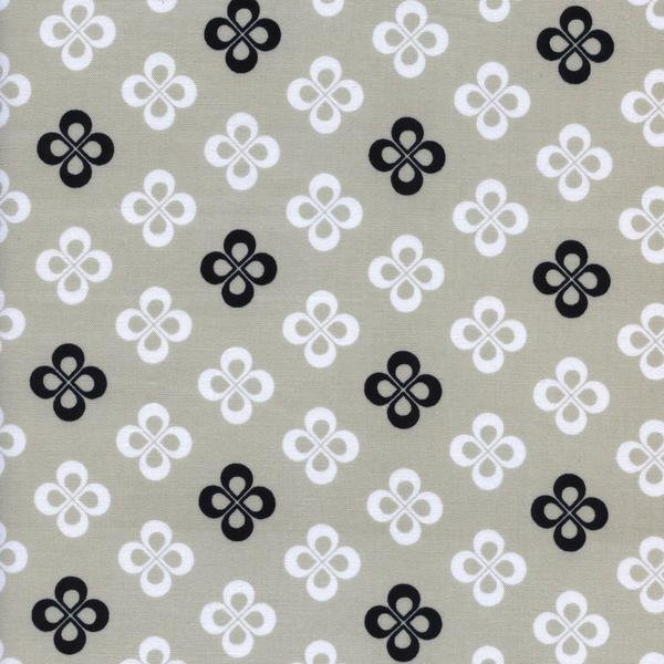 Clover Fat Quarter Black & White 2016 Collection by Cotton+Steel