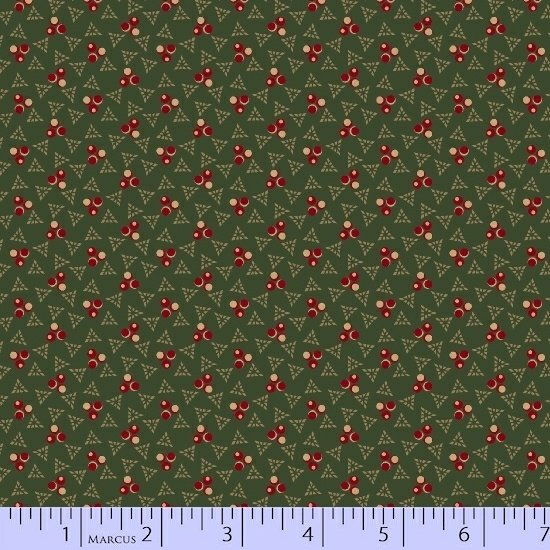 Red Green Beige Geometric Fabric Conestoga Crossing Collection by Marcus Fabrics