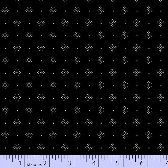 Black Ivory Foulard Geometric Fabric Conestoga Crossing Collection by Marcus Fabrics