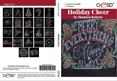 Holiday Cheer Embroidery CD by Shannon Roberts for OESD