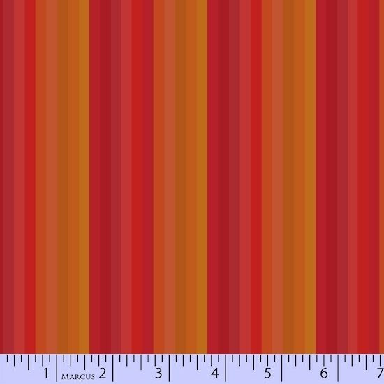 Red Stripes Fabric Getting to Know Hue Collection by Marcus Fabrics