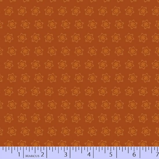 Rust Starflower Fabric Getting to Know Hue Collection by Marcus Fabrics