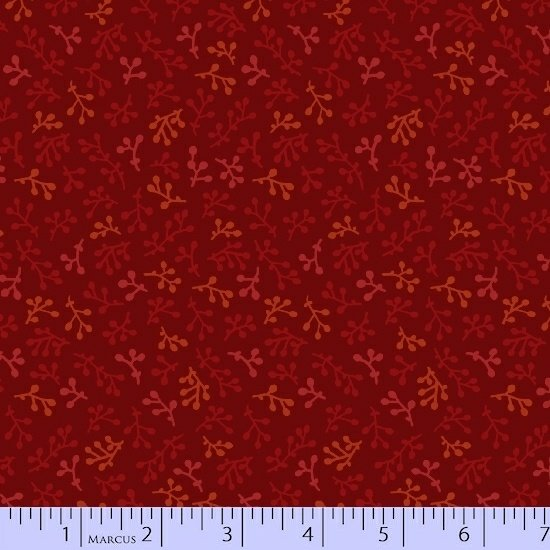 Burgundy Sprigs Fabric Getting to Know Hue Collection by Marcus Fabrics