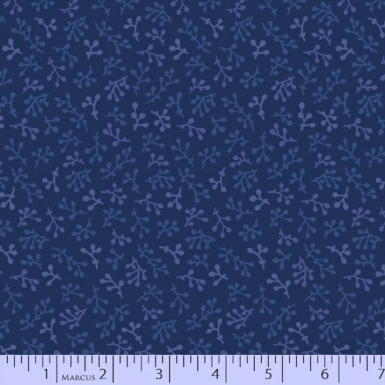 Navy Sprigs Fabric Getting to Know Hue Collection by Marcus Fabrics