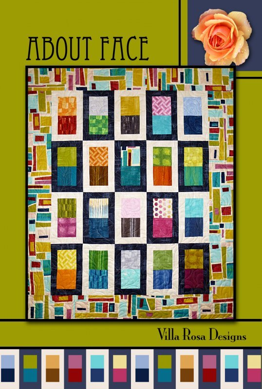 About Face RoseCard Quilt Pattern by Villa Rosa Designs
