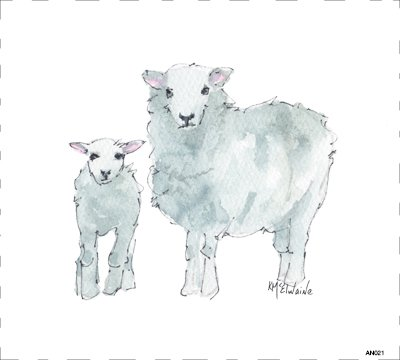Sheep Quilt Block Art by Kathleen McElwaine