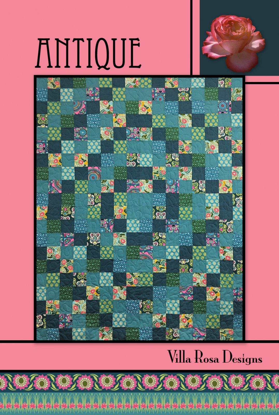 Antique RoseCard Quilt Pattern by Villa Rosa Designs