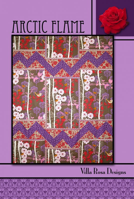 Arctic Flame RoseCard Quilt Pattern by Villa Rosa Designs