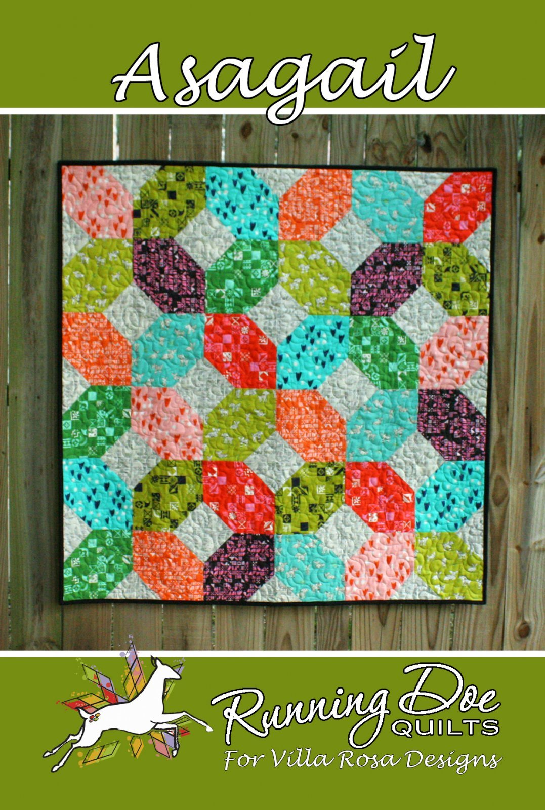Asagail Card Quilt Pattern by Running Doe Quilts for Villa Rosa Designs