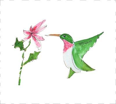 Hummingbird Quilt Block Art by Kathleen McElwaine