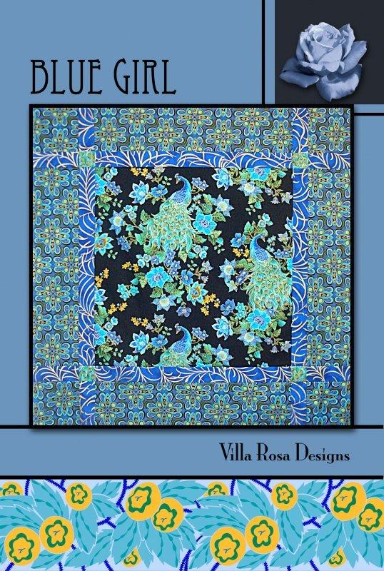 Blue Girl RoseCard Quilt Pattern by Villa Rosa Designs