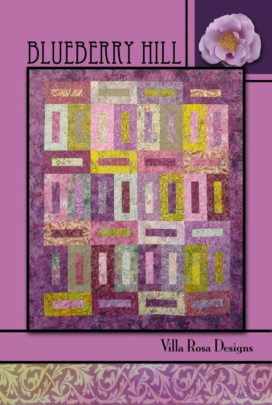 Blueberry Hill RoseCard Quilt Pattern by Villa Rosa Designs
