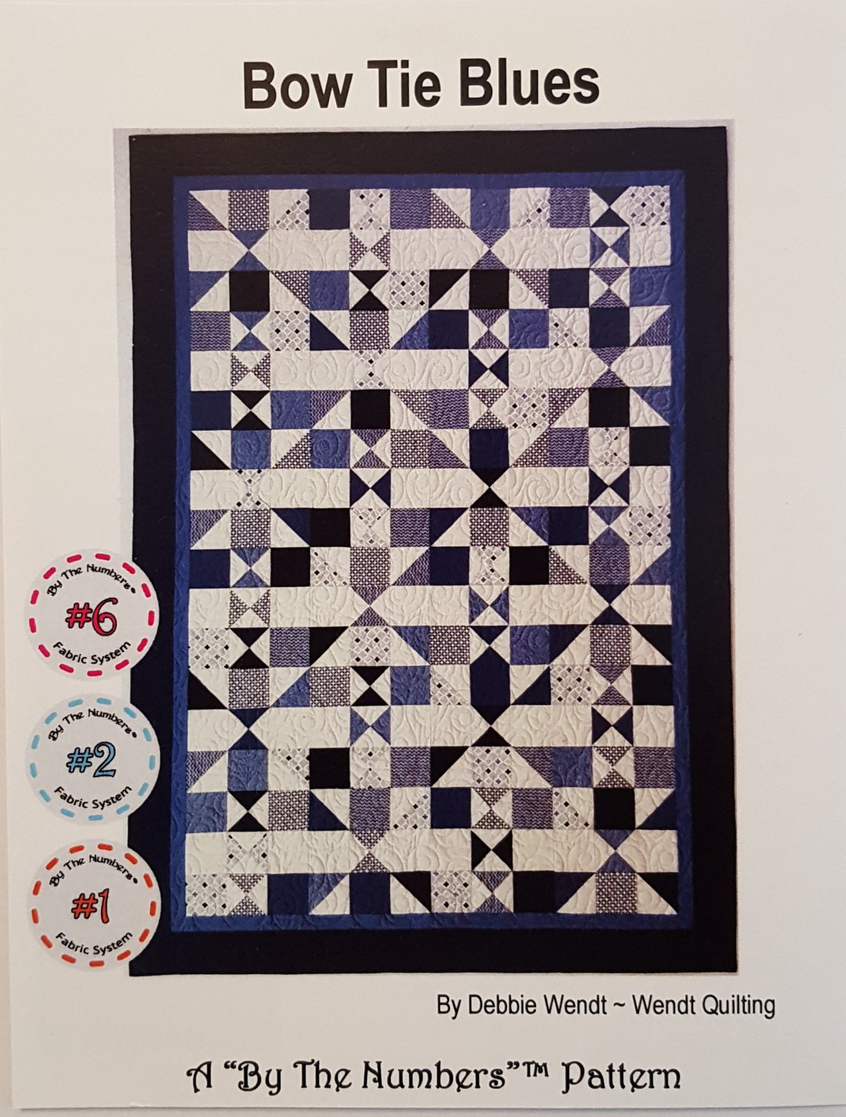 Bow Tie Blues Quilt Pattern by Wendt Quilting