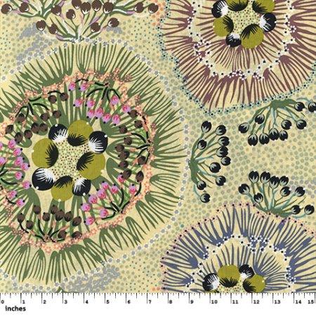 Bush Plum Fat Quarter - Ecru from M&S Textiles