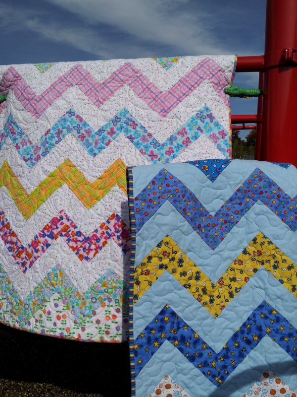 Brilliant Chevron Quilt Pattern by Wendt Quilting