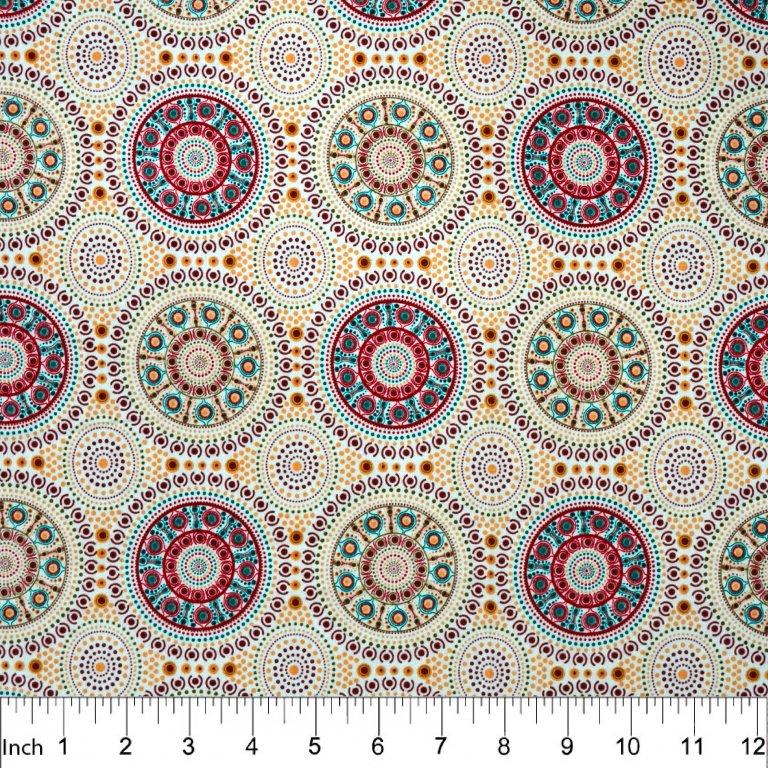 Bush Berry Fat Quarter - Ecru from M&S Textiles