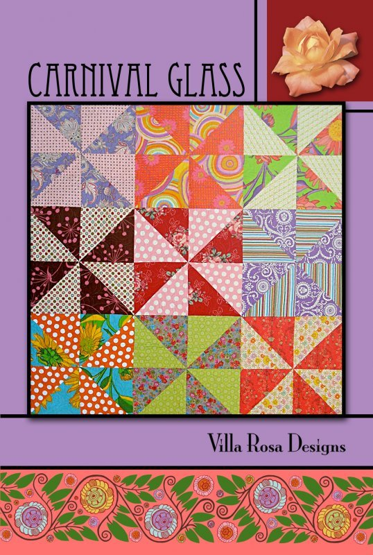 Carnival Glass RoseCard Quilt Pattern by Villa Rosa Designs