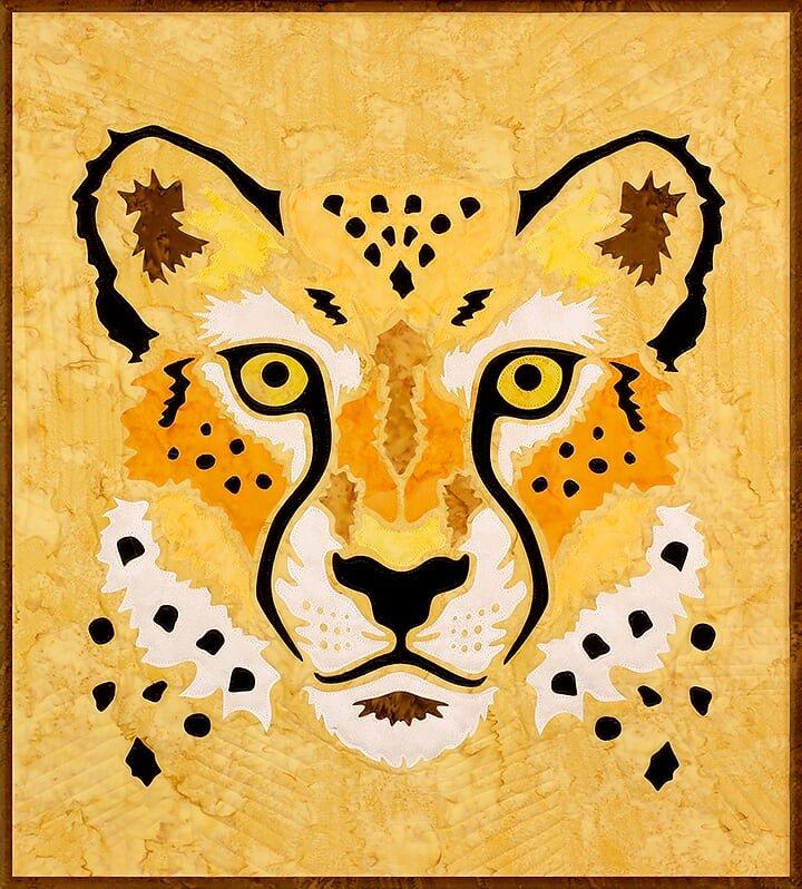 Cheetah 23 x 26 Sewfari Laser Cut Applique Kit by Westfield Laser Design