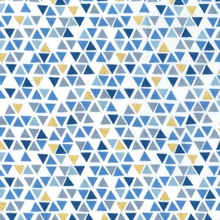 Pyramids Fat Quarter - Denim Glitter Critters Collection by Michael Miller Fabrics