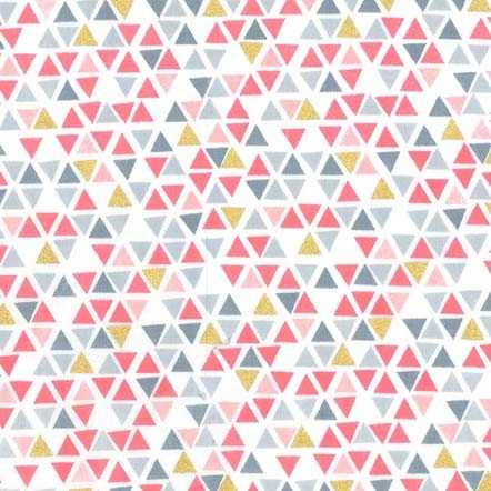 Pyramids Fabric - Peach Glitter Critters Collection by Michael Miller Fabrics
