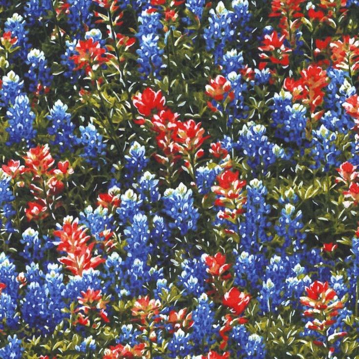 Texas Flowers Fat Quarter by Michael Miller Fabrics