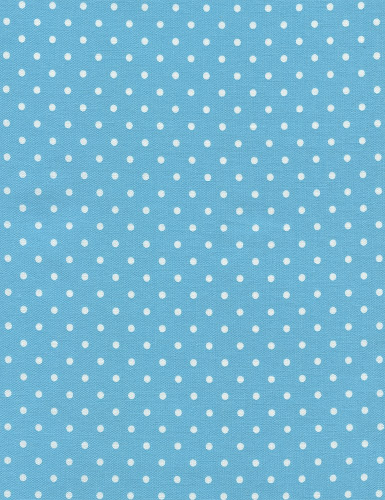Polka Dots on Aqua Fabric Polka Dot Basic Collection by Timeless Treasures
