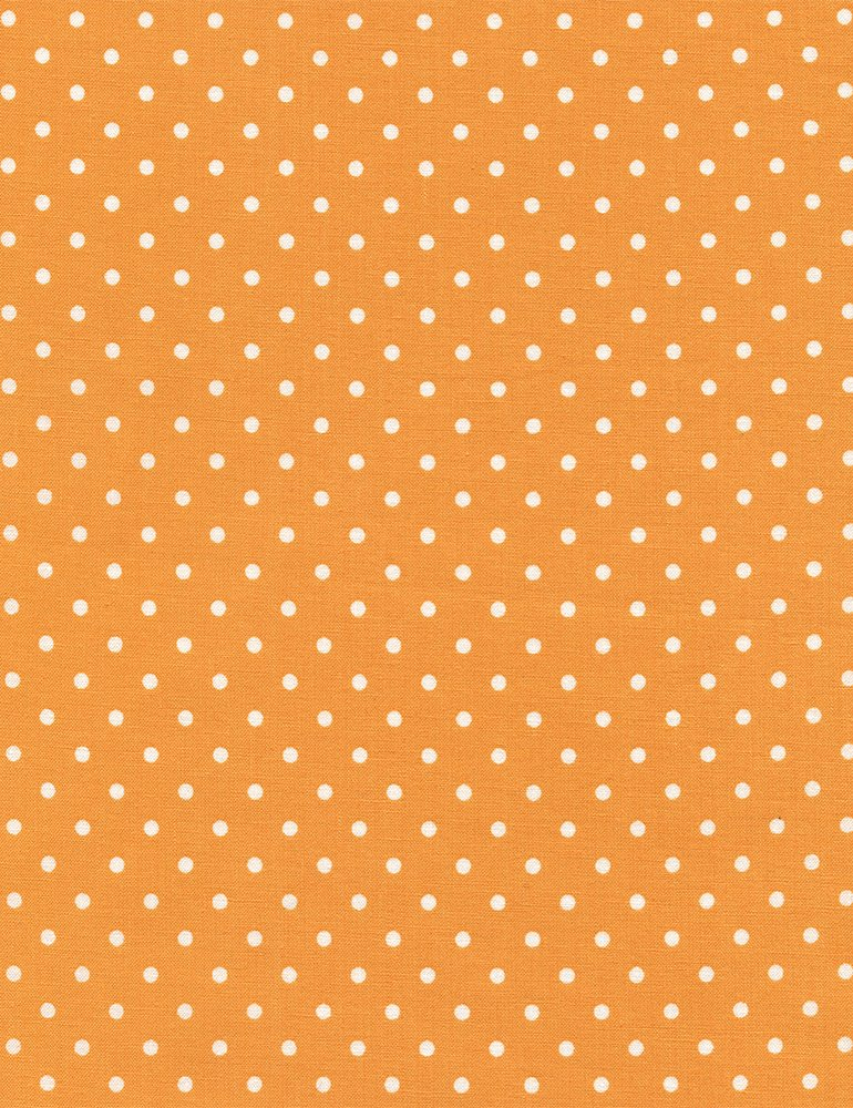 Polka Dots on Melon Fabric Polka Dot Basic Collection by Timeless Treasures