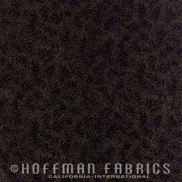 Brilliant Blender Fat Quarter - Black/Gold by Hoffman Fabrics