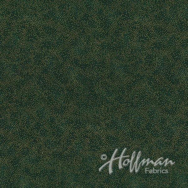 Brilliant Blender Fat Quarter - Hunter/Gold from Hoffman Fabrics