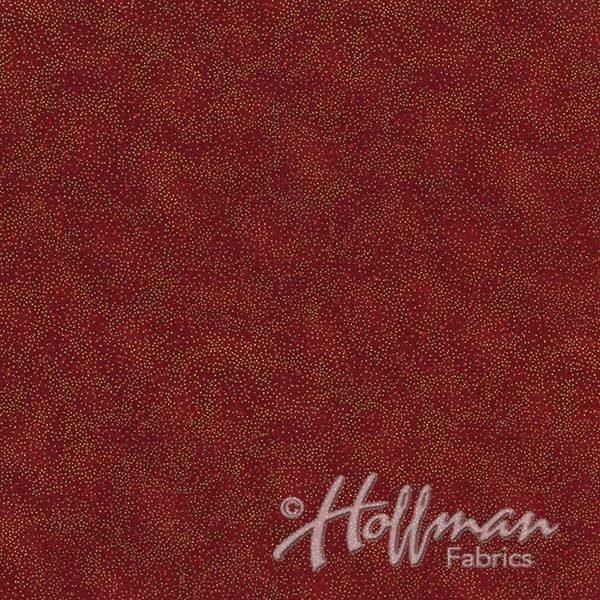 Brilliant Blender Fat Quarter - Scarlet/Gold from Hoffman Fabrics