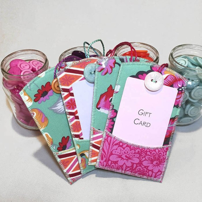 Gifty Card Tag Kit with Overnight Delivery Fabrics and Pattern by Lazy Girl Designs