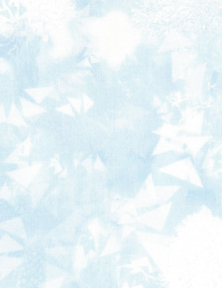 Bear Grass Light Fabric - Sky Bohemian Blues Collection by Judy & Judel Niemeyer for Timeless Treasures