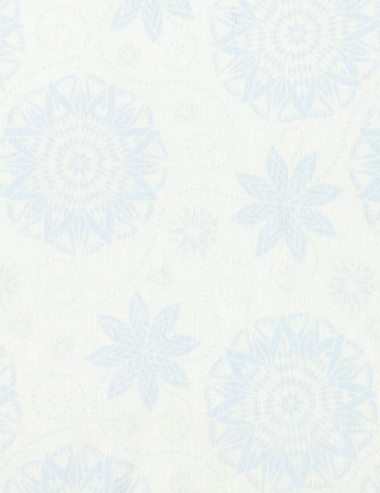 Quilterly Medallions Medium Fabric - Grey Bohemian Blues Collection by Judy & Judel Niemeyer for Timeless Treasures