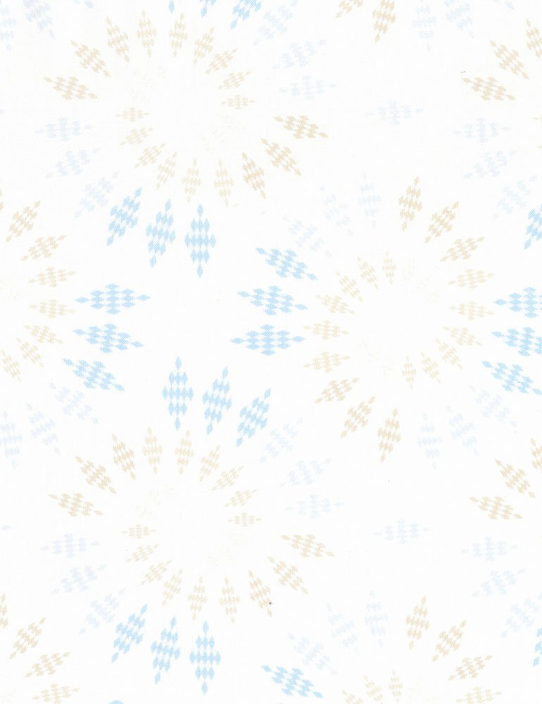 Kaleidoscope Fabric - Sand Bohemian Blues Collection by Judy & Judel Niemeyer for Timeless Treasures